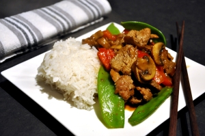 pork stir fry served 2