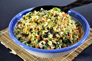 Moroccan Rice salad served