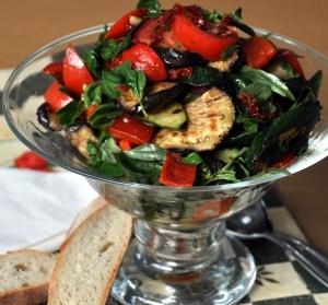 Grilled Tuscan Veg Salad served