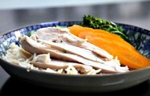 chicken rice served