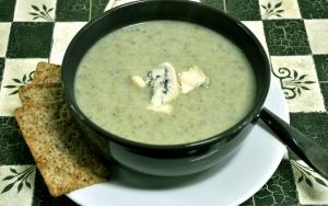 celery soup served