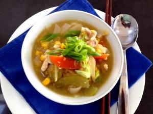 chicken sweet corn soup 2