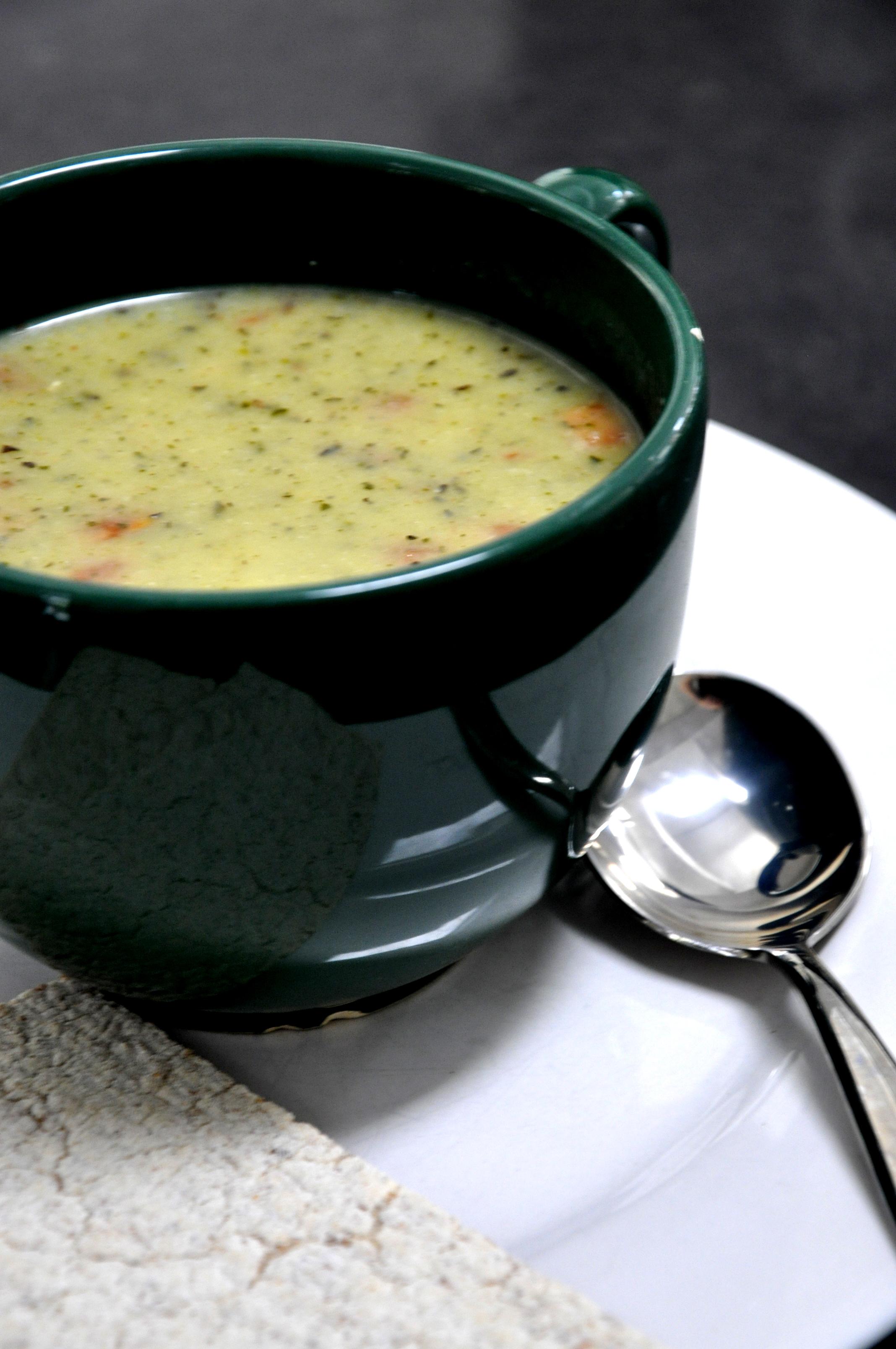 Tomato, Zucchini, White Bean And Basil Soup Recipe — Dishmaps