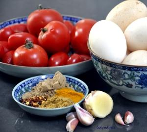 eggs tomato curry ingreds