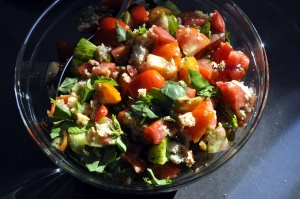 Heirloom tomatoes Panzanella