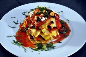 lasagne served 2