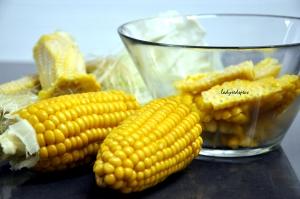 Sweet Corn Red pepper  risotto corn