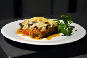 Vegetable Lasagne served