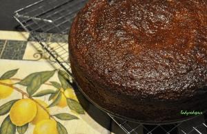GF citrus marmalade cake glazed