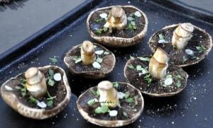 Roasted mushrooms unbaked