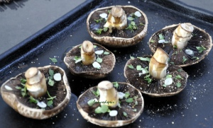Roasted mushrooms unbaked