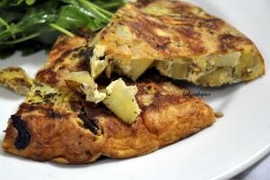 Spanish omelette served 2