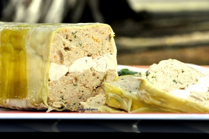 turkey terrine served