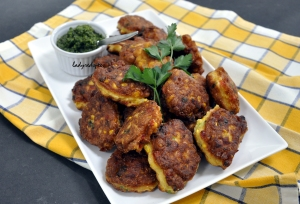 corn fritters served