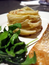 served with seared salmon & rocket