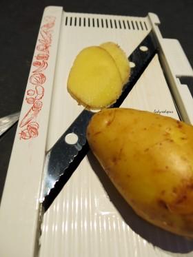 thinly sliced potato
