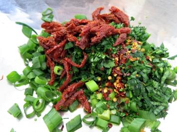 Fresh salad ingredients