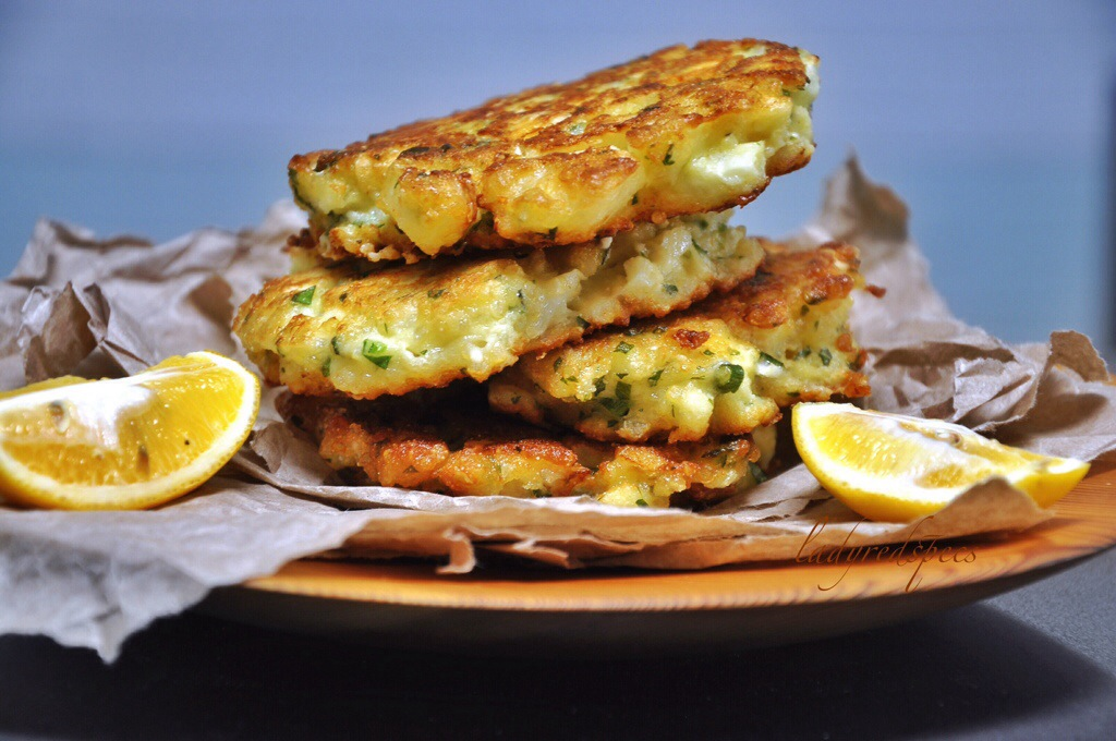 Cauliflower-Feta Fritters With Pomegranate Recipes — Dishmaps
