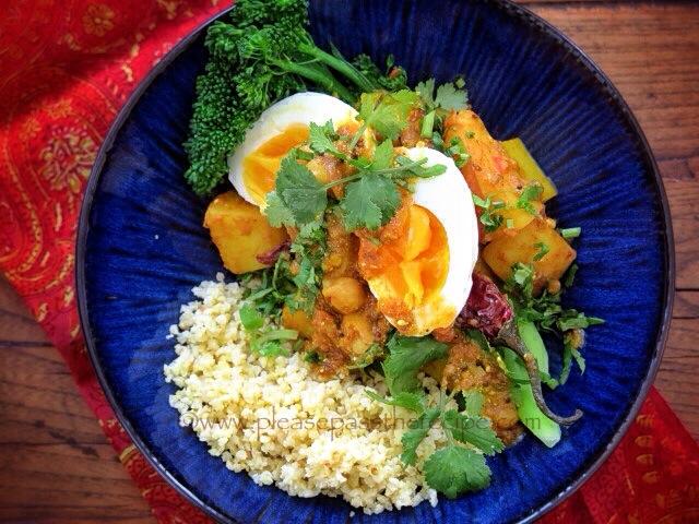 Potato Egg Coriander Curry
