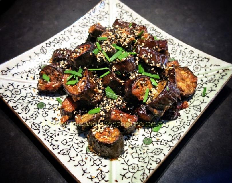 Miso Glazed Roasted Eggplant | Please Pass the Recipe