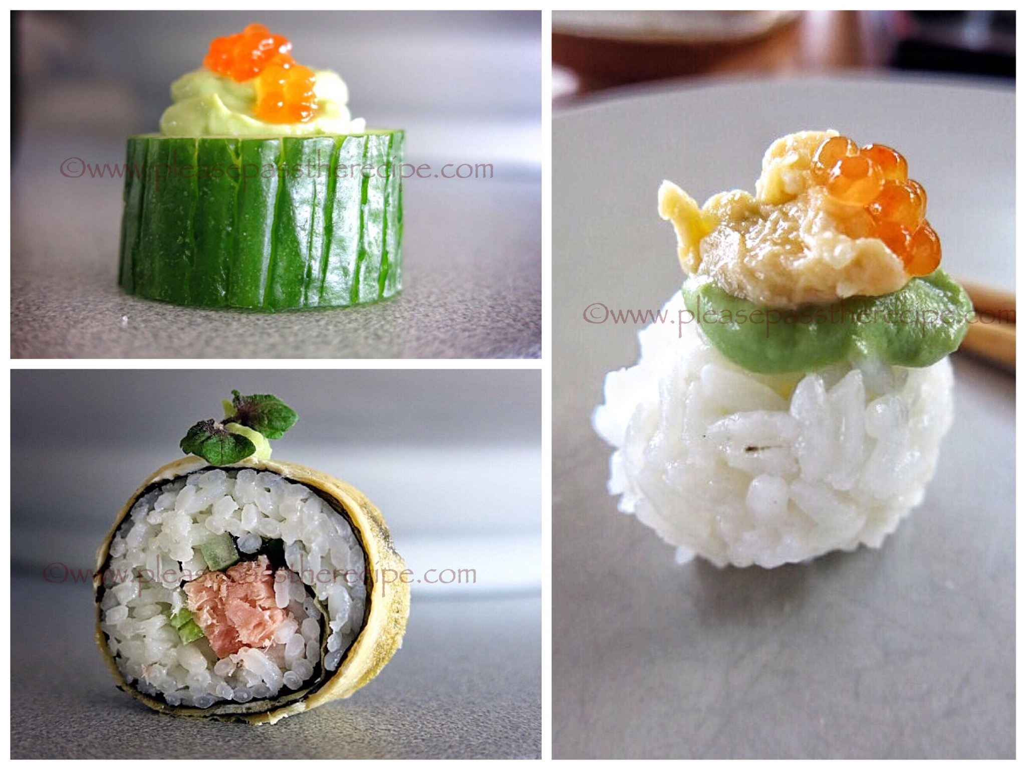 Salmon roe sushi please pass the recipe for Where to buy canape cups