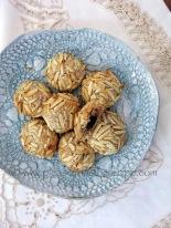 Amarena cherry stuffed macaroons
