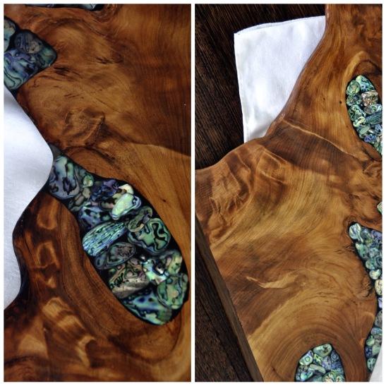 Kauri board with pao shell