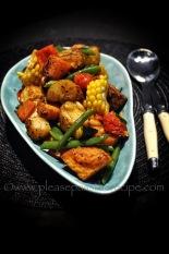 Cajun Spiced Roast Vegetable Salad