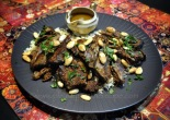 Slow Cookws Lamb Shoulder with browned almonds