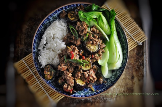 Spicy Beef with Eggplants