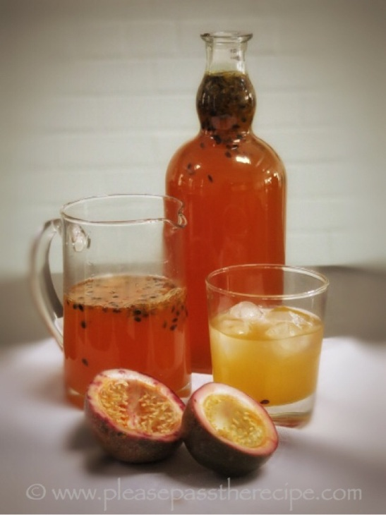 Passionfruit cordial