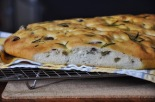 Olive and Rosemary Spelt Focaccia