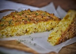 Pumpkin bacon parmesan risotto cake
