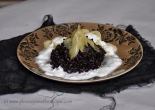 Sticky Black Rice with Ginger in Syrup bananas and coconut yoghurt
