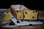 Lemon Sour Cream Cake with Blueberries