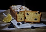 Lemon Sour Cream Cake with Blueberries