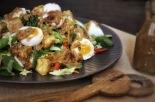 Chilli Peanut Vegetable Salad with Fried Tofu