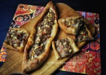 Sourdough spelt Turkish lamb pide pie