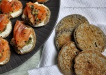 Buckwheat Blini with gravlax