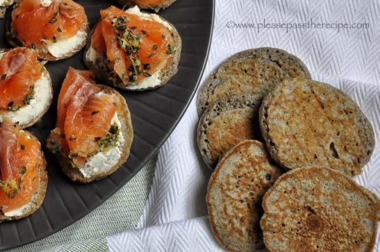 Buckwheat Blini with gravlax