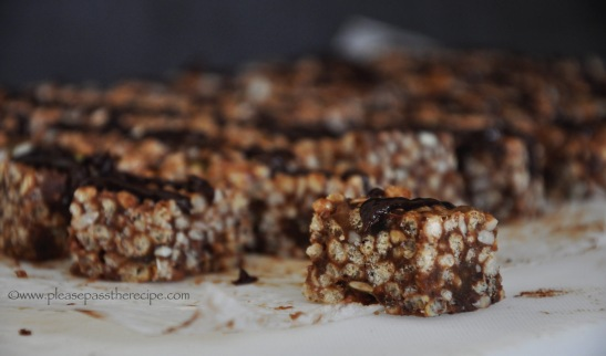 No Bake Nutty Chocolate Ginger Bars