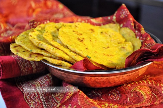 Rice flour carrot paratha