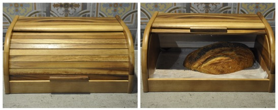 Timber bread bin