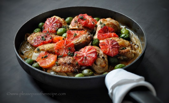 chicken, olives, marsala and blood oranges
