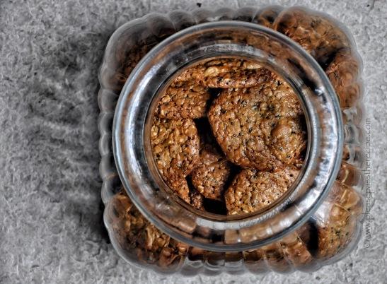Salted Peanut Sesame Snaps