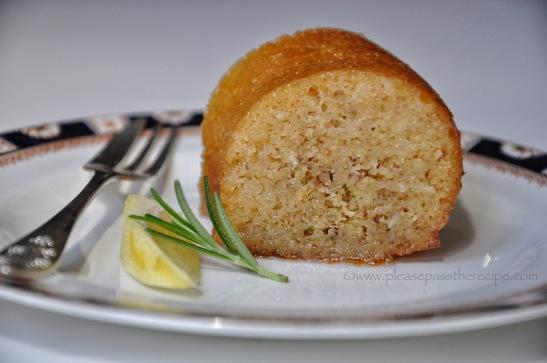 Lemon and Rosemary Syrup Cake