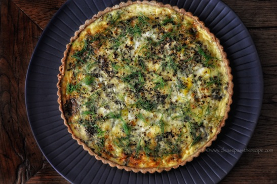 Peppery Blue Cheese Tart with Caramelized Fennel