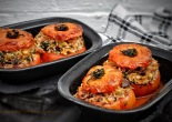 Stuffed sweet summer tomatoes