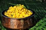 sweet corn in spiced coconut milk