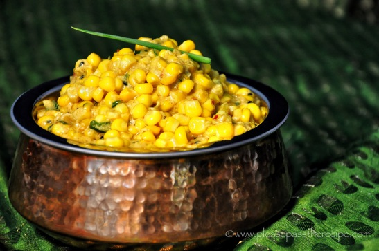 sweet corn in spiced coconut milk